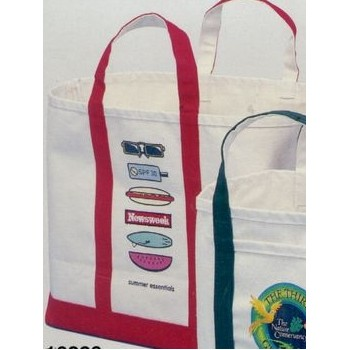 "Super Jumbo Natural Canvas Ice & Coal Bags w/ Long Handles (17""x19""x10"")"