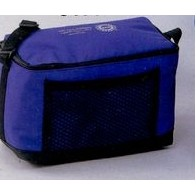 "Six-Pack Cooler w/ Mesh Pocket (9 1/2""x6 1/2""x5 1/2"")"
